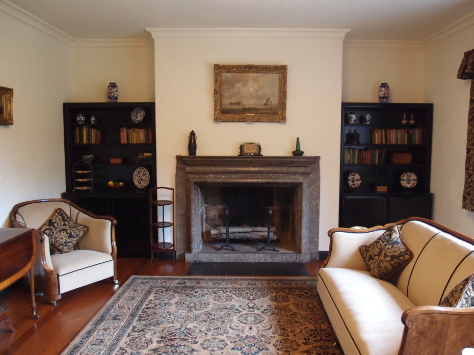 The Sitting Room mantle is carved from limestone that is rich in fossils.