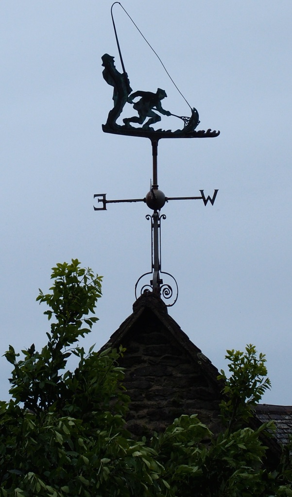 Above the Loggia's roof: a weather vane, which celebrated Rupert's love of fishing.