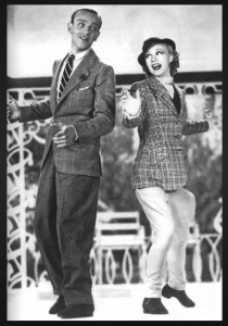 "Fred & Ginger, TOP HAT: 1925. They're dancing to Irving Berlin's ""Isn't This a Lovely Day (To be Caught in the Rain)."" Sublime."