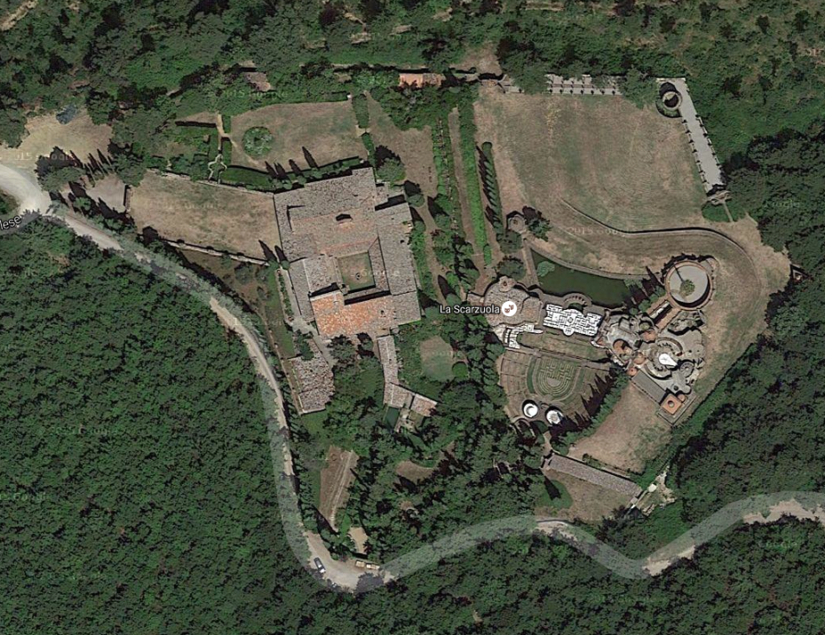 Aerial view of La Scarzuola