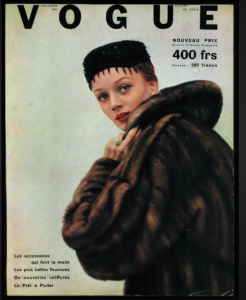 Niki on the cover of FRENCH VOGUE, November 1952