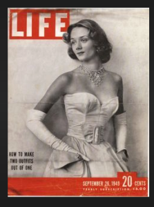 Niki on the cover of LIFE, September 1949