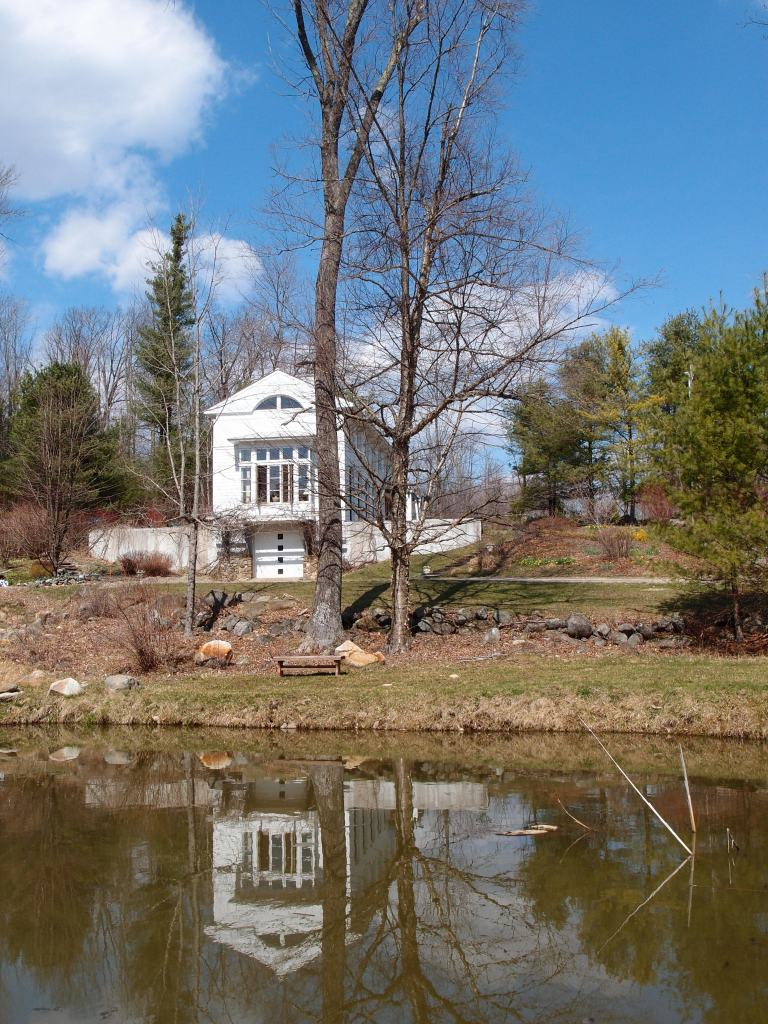 South side of House, with Meadow-Pond, in early Spring
