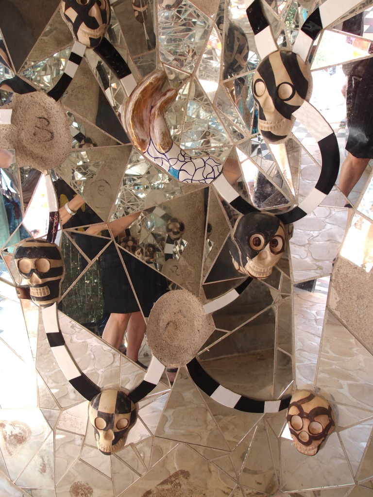 The best thing about being surrounded by shattered mirrors: you can never tell if you're having a Bad Hair Day.