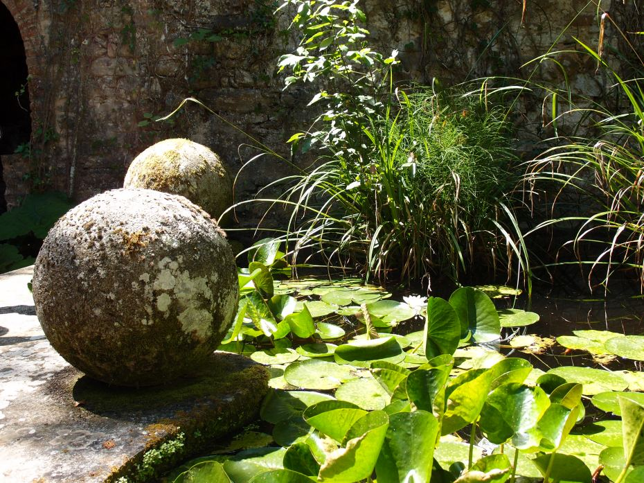 Stone Orbs, at the Lily Pond