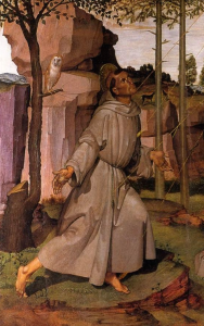 Saint Francis of Assisi -- although not shown aloft here --- was known as a holy man who could hover 1.3 meters above the ground.